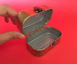 Make a pretty Sardine Can Box