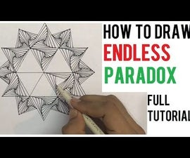 How to Draw the Endless Zentangle Paradox Design Tutorial for Beginners