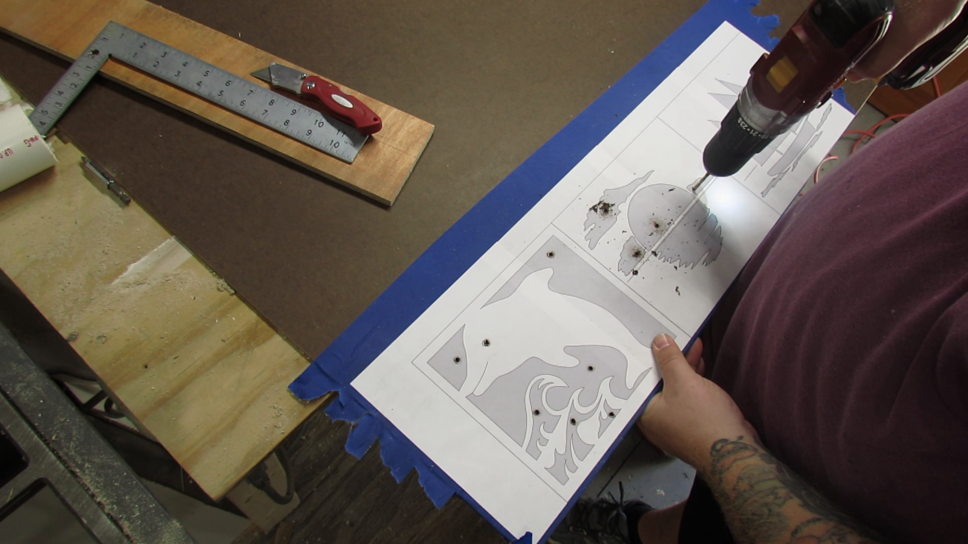 Picture of Prepping the Piece for Cutting