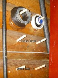 Foam Paint Brush Dowel Tool Hangers