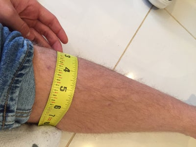 Measure Shin Length and Width of Shin Guards. I Took a Fabric Cloth and Figured Out the Width and Length of My Shin That I Felt Appropriate for the Guard.