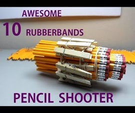 10 Rubber Bands Pencil Shooter