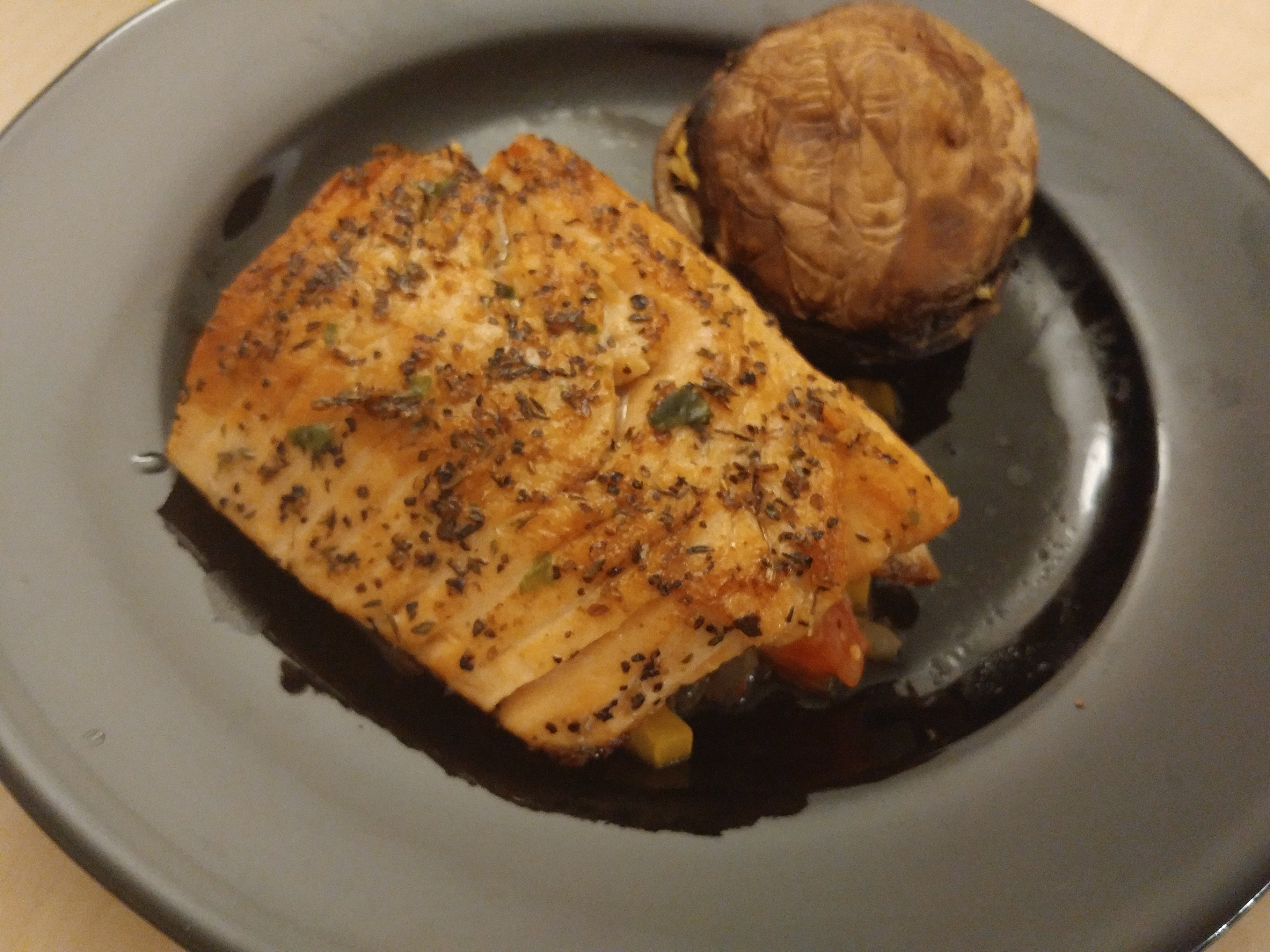 Picture of Atlantic Salmon Grill With Improvised Salsa
