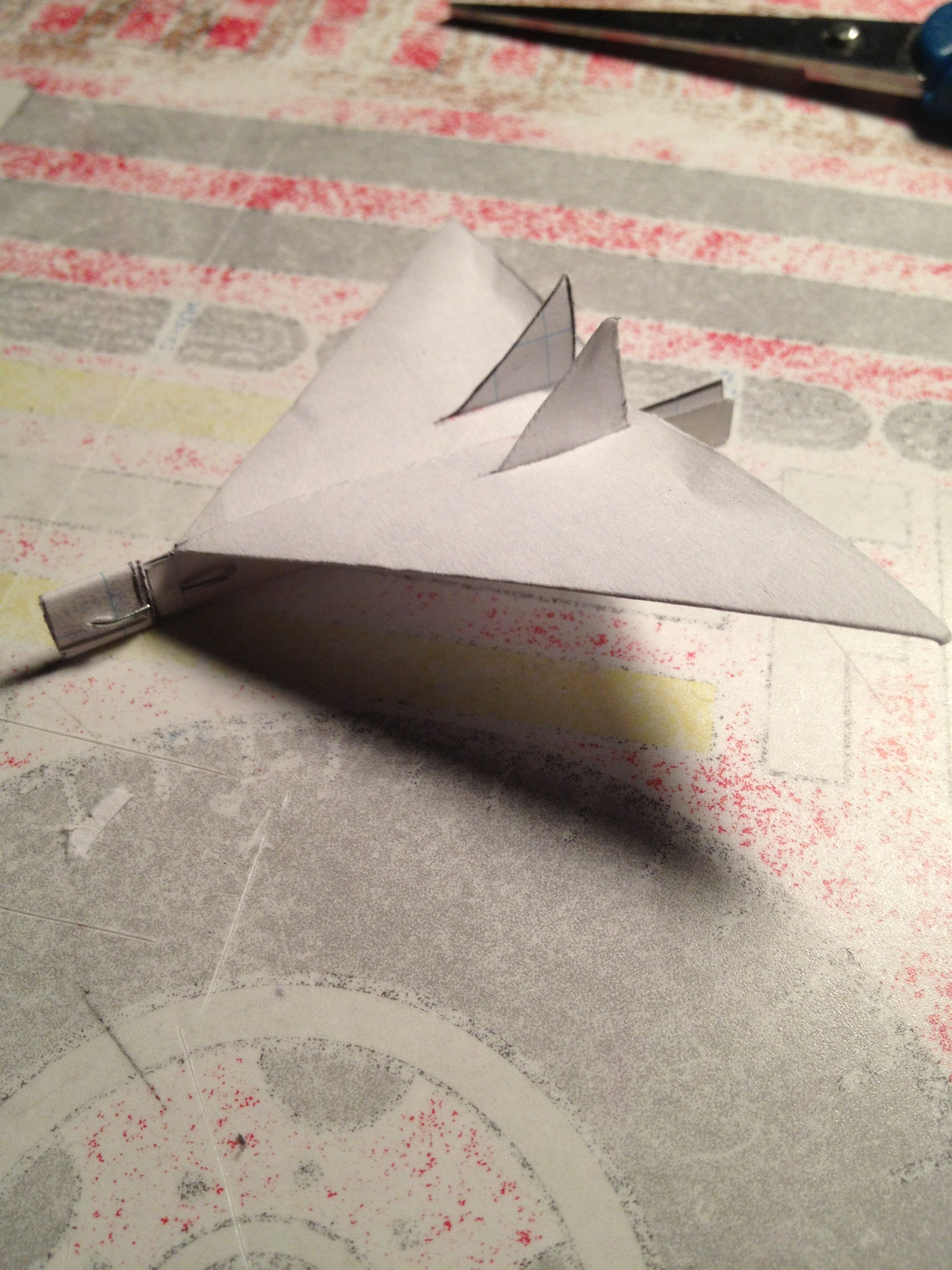 Picture of Mini Paper Airplane Glider: Raptor, Version 1.0