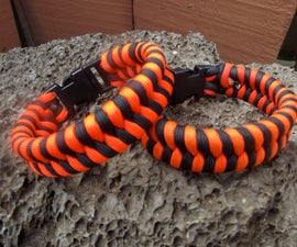 TWO COLOR PARACORD FISHTAIL BRACELET