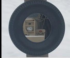 Vintage Car Tire Mirror