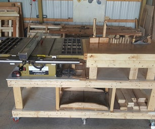 Mobile Table Saw Bench