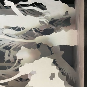 Lord of the Rings-themed Layer Papercutting