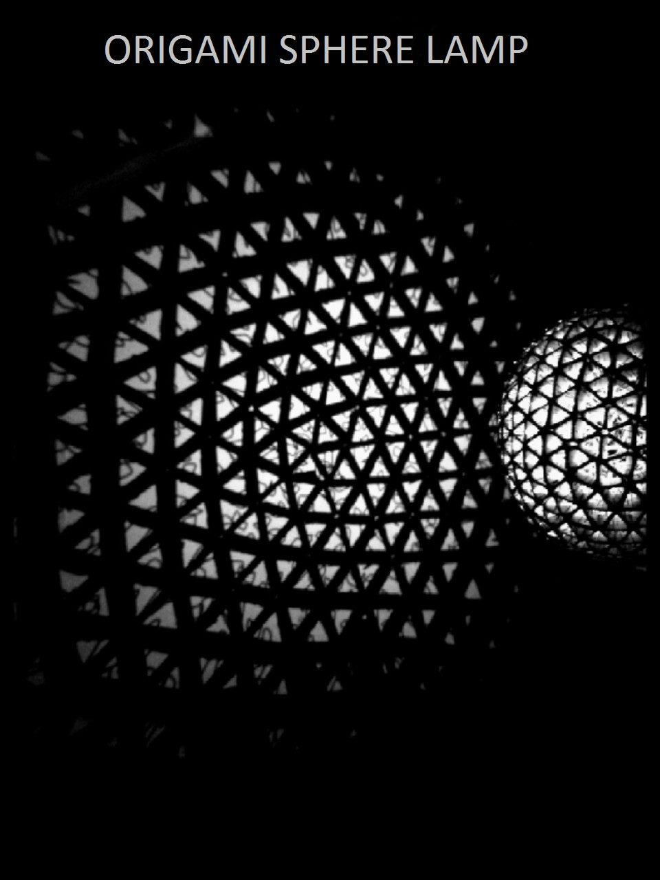 Picture of The Origami Sphere Lamp
