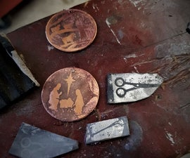 Acid Etching Metals With a  Laser Print Image