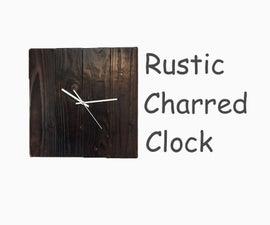 Rustic Charred Clock
