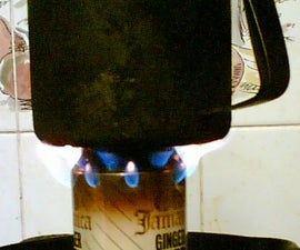 Ultra-simple, improvised camping stove