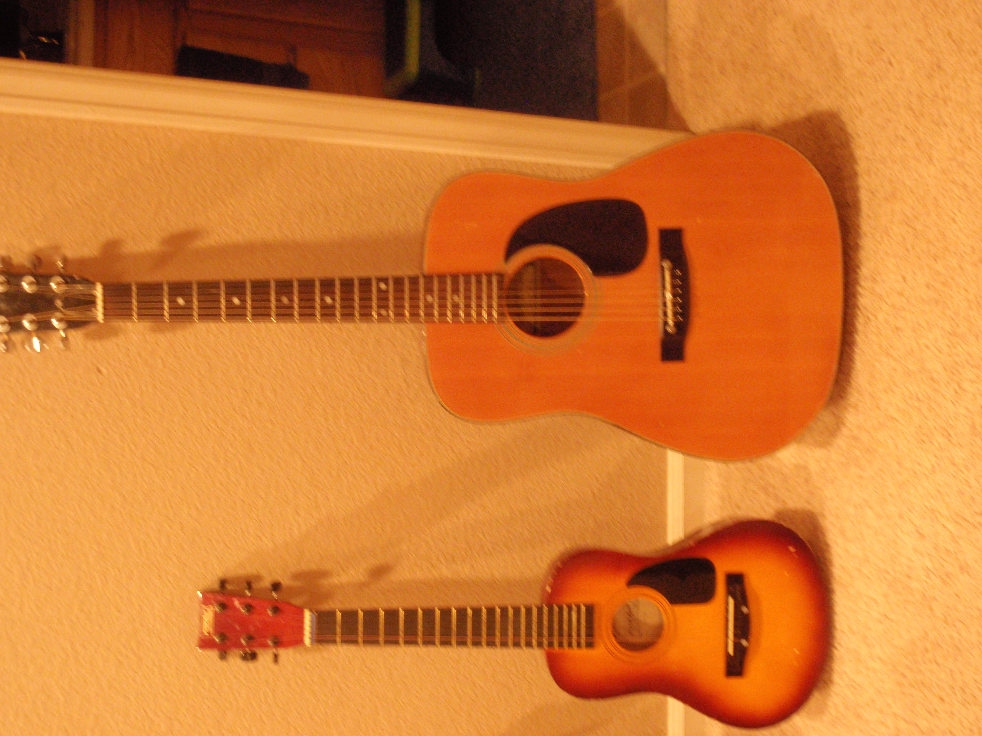 Picture of Old Guitar Converted to Baritone Ukulele