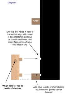Add Steel Rod Onto Shelfs