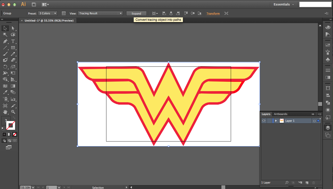 Picture of Wonder Woman: Similifying Multiple Layers