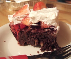 Gluten-free Chocolate Brownie Jelly Strawberry Cream Cake!