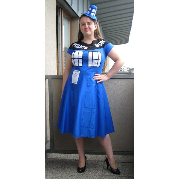 Tardis Dress With a Hat