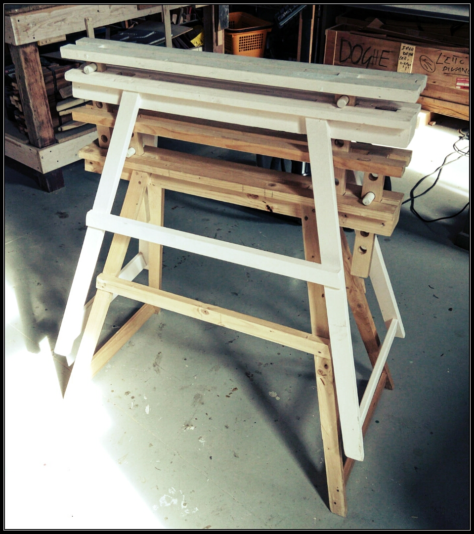 Picture of Adjustable Wood Sawhorse