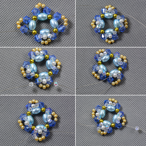 Picture of Add the Clear Glass Beads and Pearl Beads