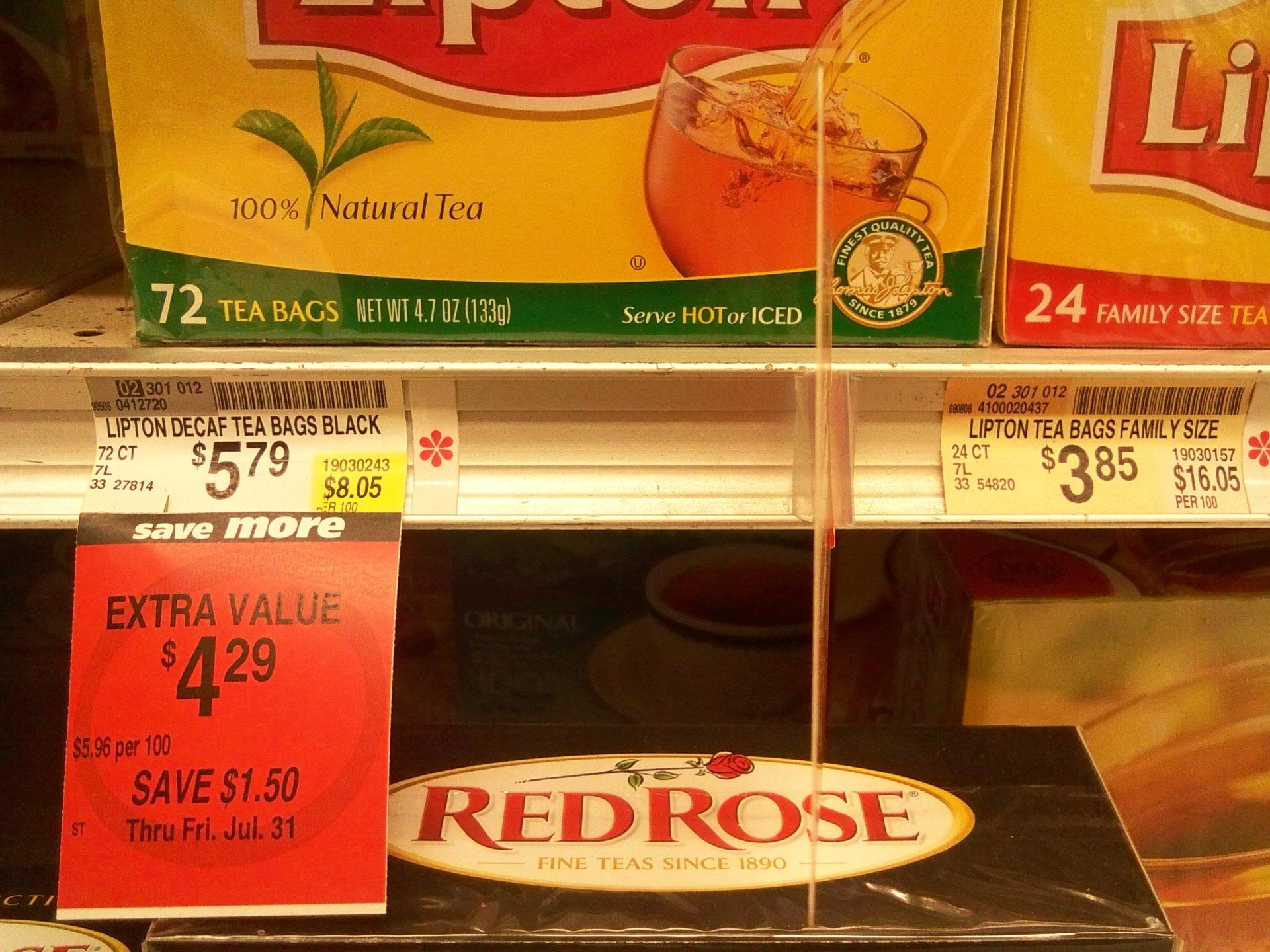 Picture of Plain Tea: $1.15 / Gal