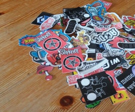 DIY Cheap Easy Stickers