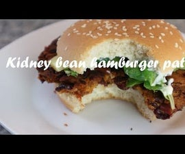 Kidney Bean Hamburger Patty Recipe
