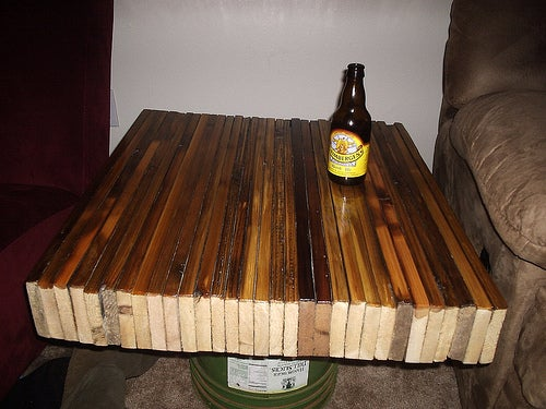 Recycled Fence Butcher Block Style Table