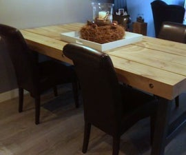 Oak beam dinner table
