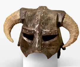 How to Make a Skyrim Iron Helmet (From Paper to Prop)