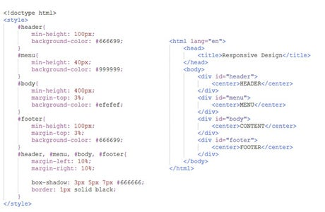 HTML &  Css for Resizable Web Design