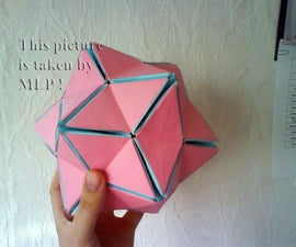 Color origami ball