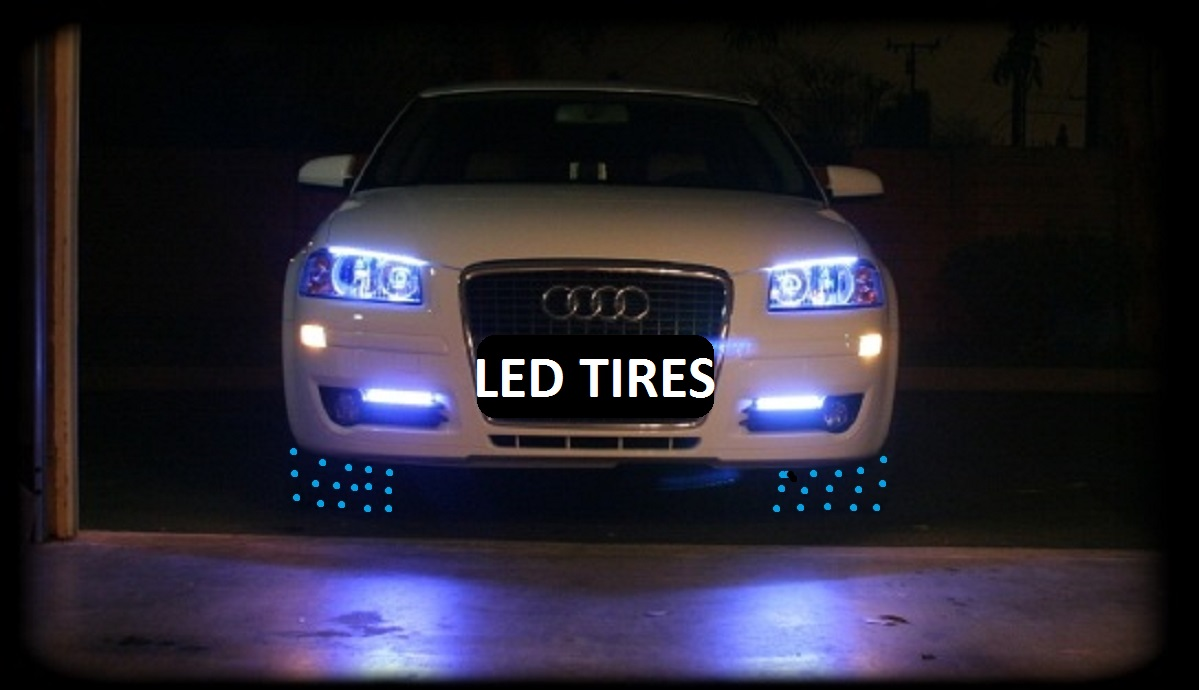 Picture of LED EMBEDDED IN AUTO-TIRES?  How to build this tire?