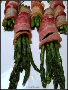 Lemon Zested Bacon Wrapped Asparagus