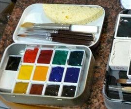 Movable Pallet Altoid Tin Watercolor Set