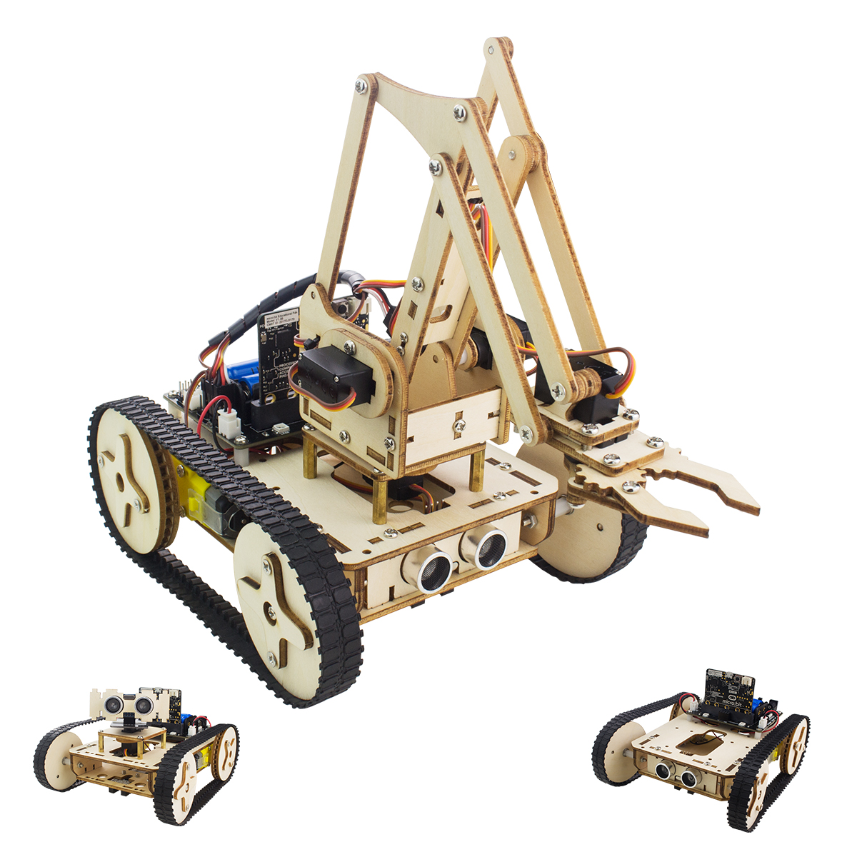 Picture of HOW TO ASSEMBLE AN IMPRESSIVE WOODEN ROBOT ARM(PART3: ROBOT ARM) -- BASED ON THE MICRO: BITN