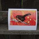 Lino Reduction Print Card