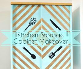 Kitchen Storage Cabinet Makeover!!