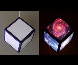 DIY pendant lamp/lantern (galaxy cube)
