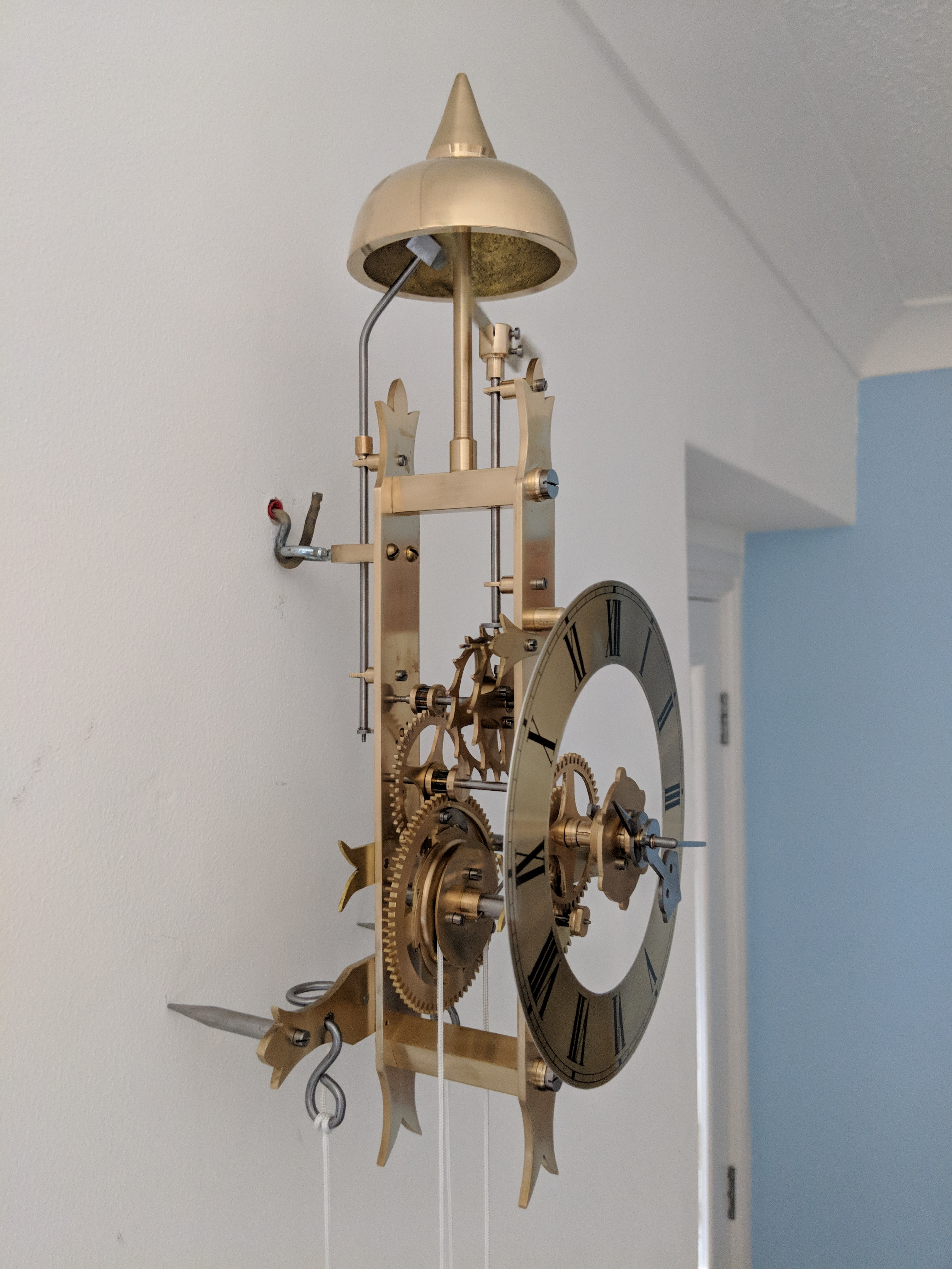 Picture of Making a Wall Hanging Brass Mechanical Alarm Clock in the Home Machine Shop