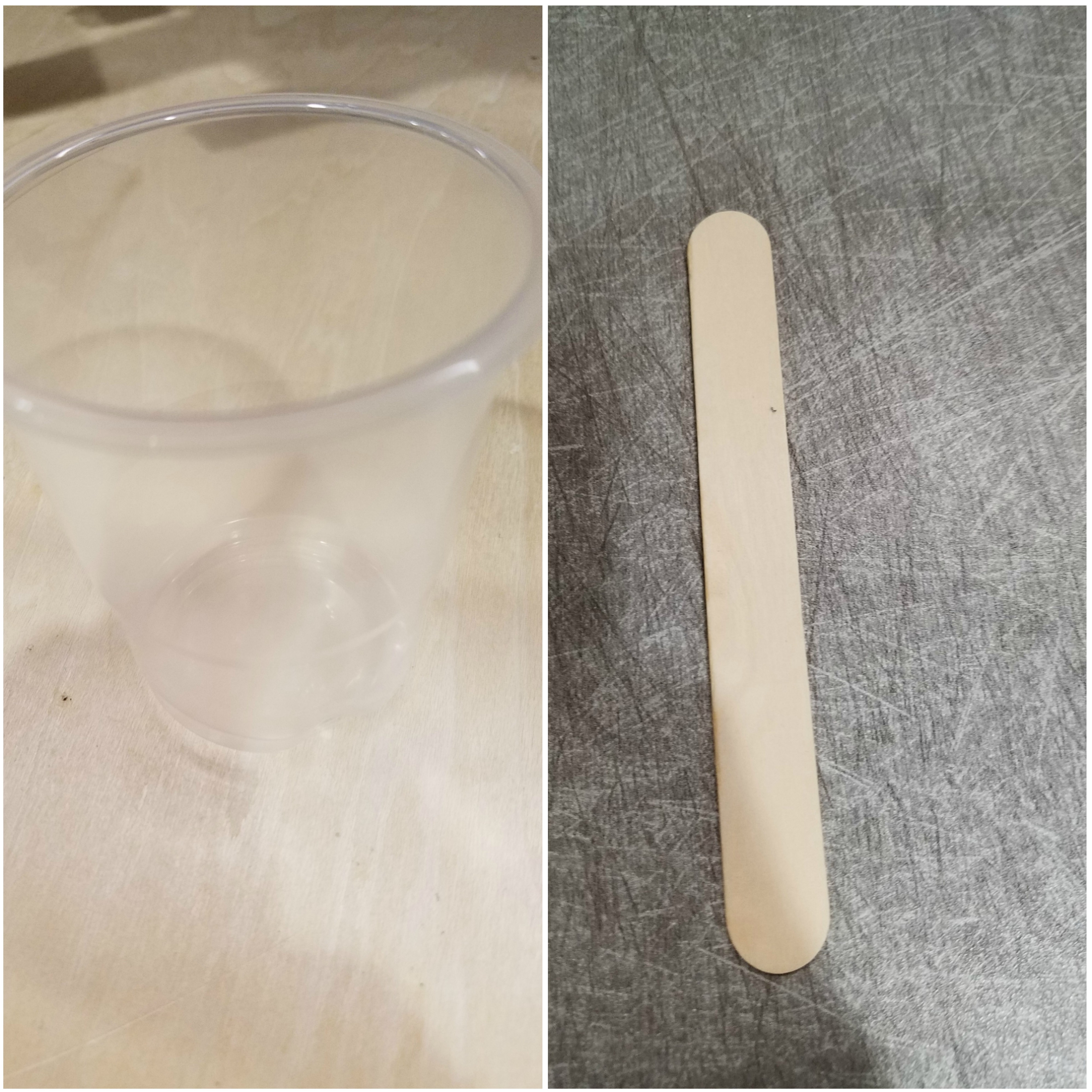 Picture of Cup and Mixing Sticks