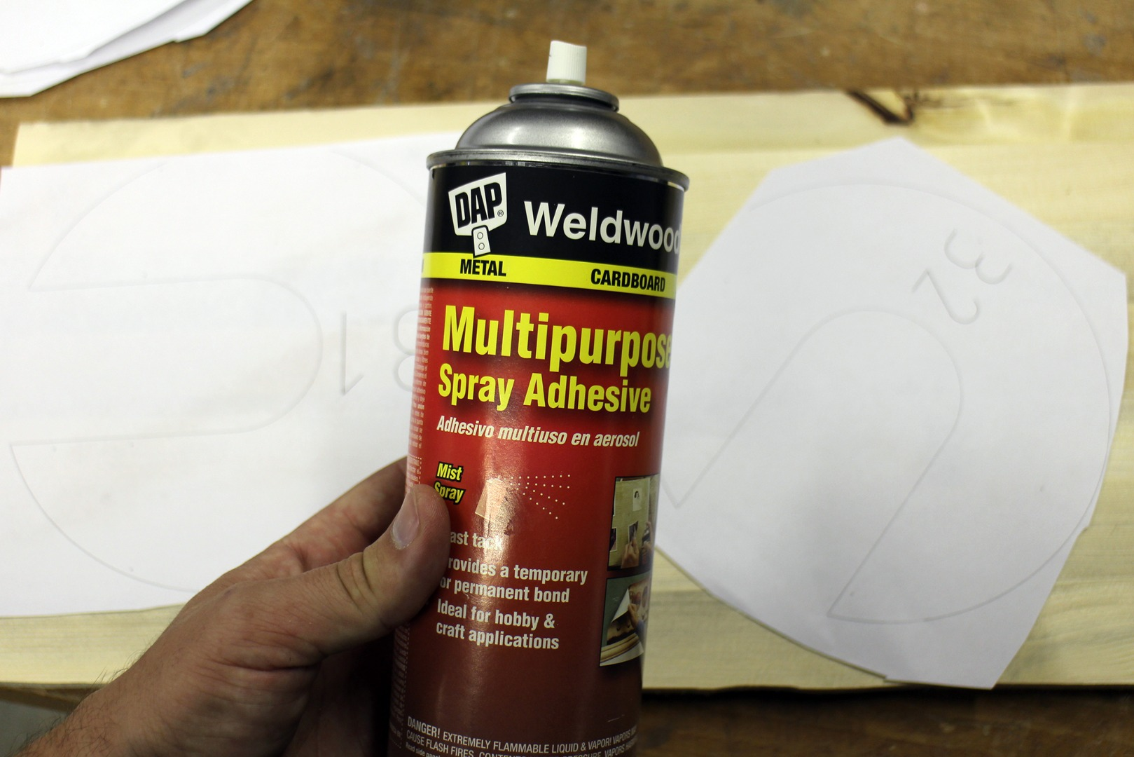 Picture of Glue Templates to Wood