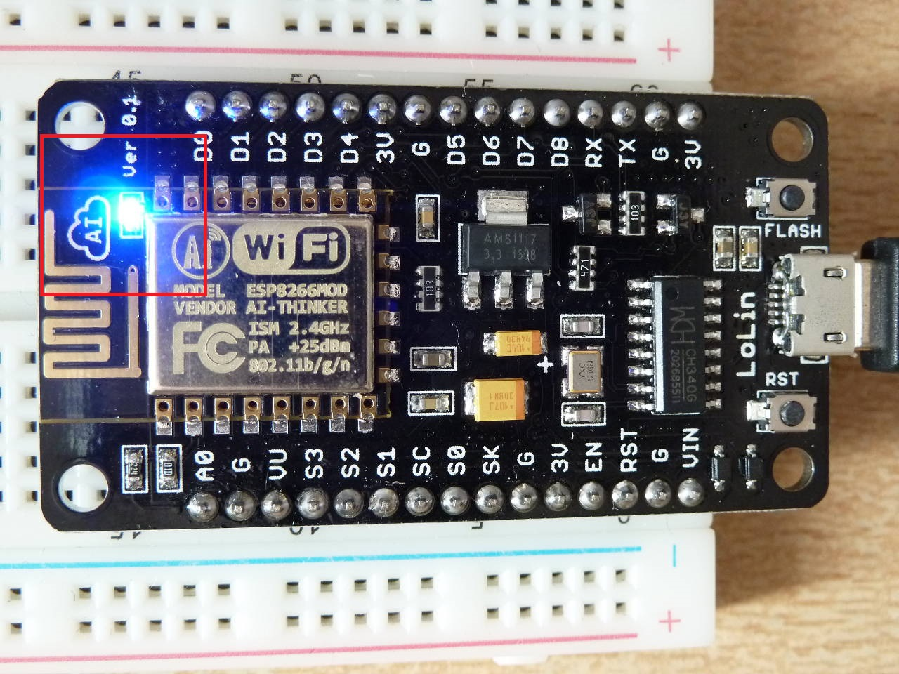 Picture of Code(Upload the Following for Check the NodeMCU With Blinking of Inbuilt LED on D0)