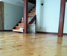 Wide Plank Floor DIY: Rough Cut to Tongue and Groove