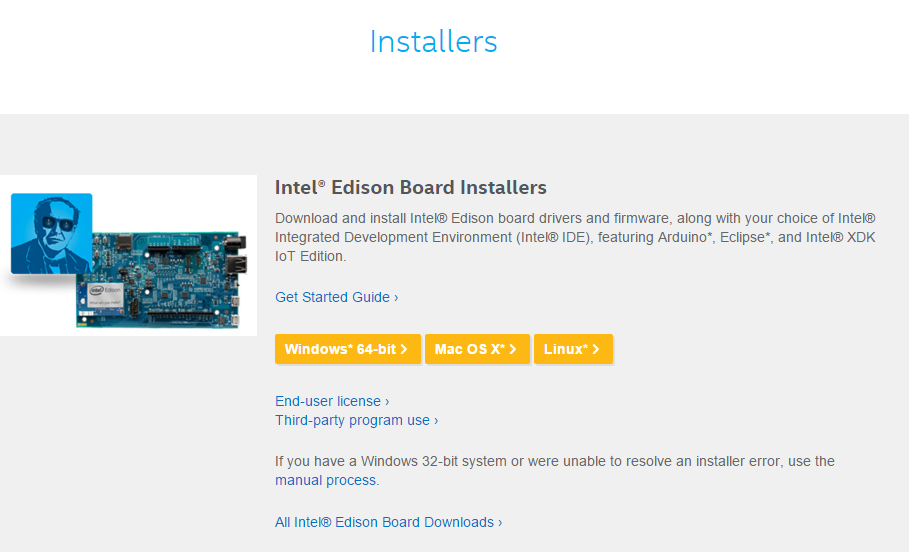 Picture of Download and Install Intel® Edison Board Drivers and Firmware