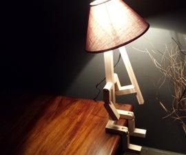 """""""Stickman"""" bedside lamp"""