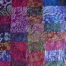 Fabric painted scraps