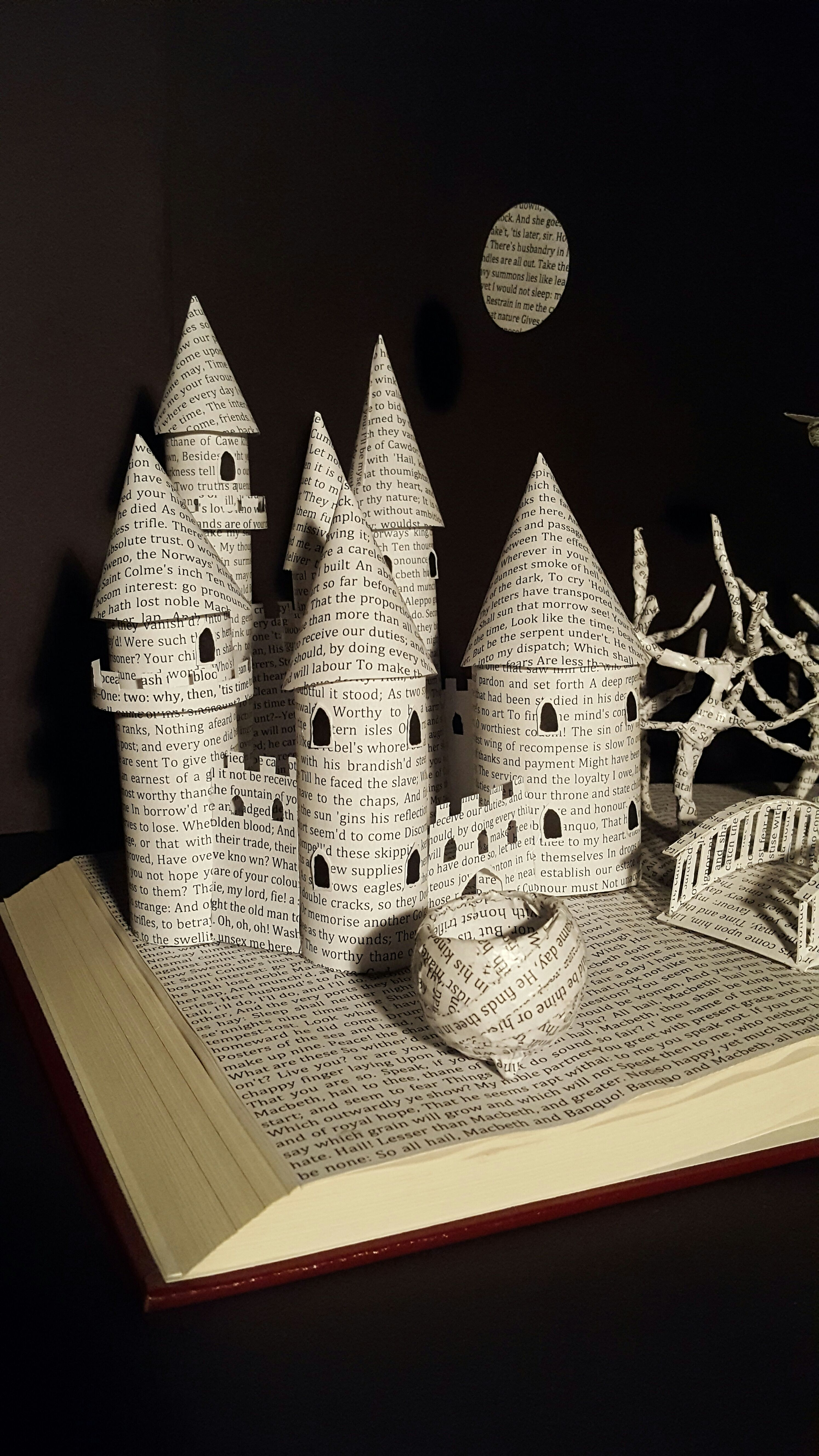 Picture of Book Diorama Made From a Book