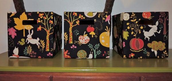 DIY Fabric Storage Boxes