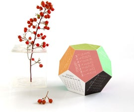 Dodecahedron 2015 Calendar