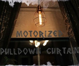 Motorized Pulldown Curtain (Phone & Radio Controlled)